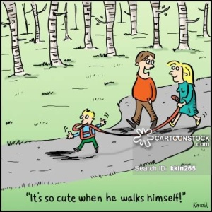 'It's so cute when he walks himself!'